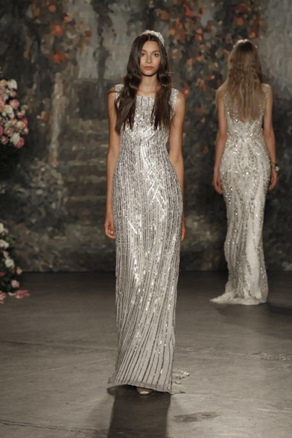 Jenny-Packham-Spring-2016-metallic-column-wedding-dress-with-bateau-neck-400x600