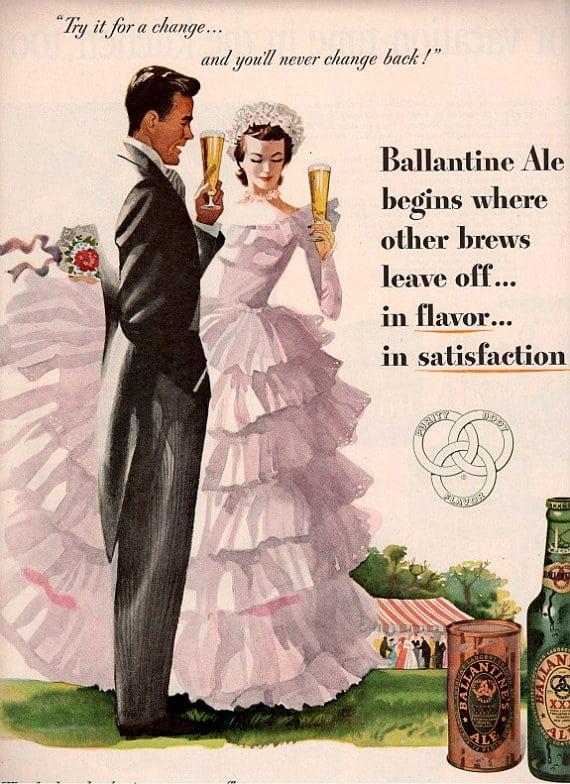 Ślub retro reklama