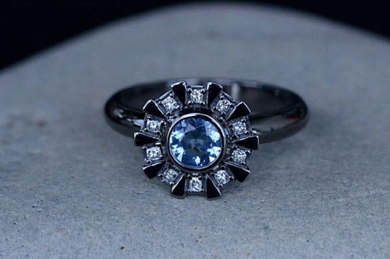 iron man pierścionek zaręczynowy