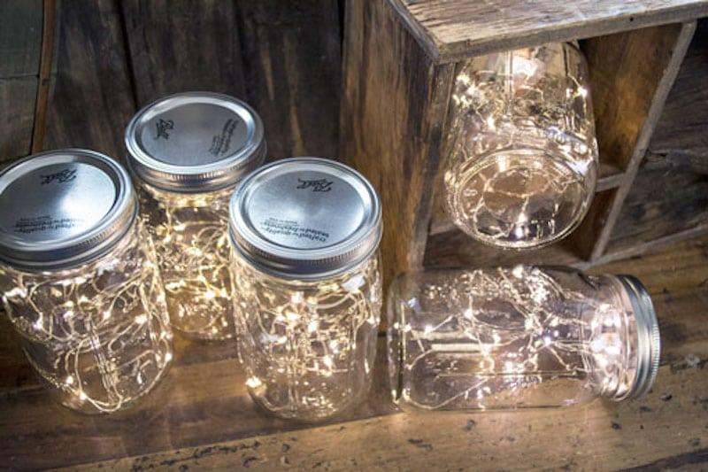 Mason Jar Lights - LED Fairy & Pendant Lights for Mason Jars