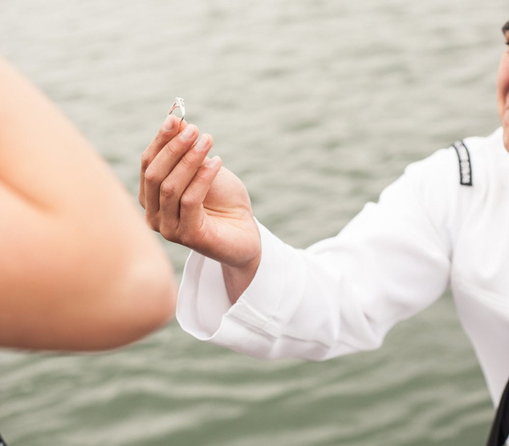 wspólne wybieranie pierścionka zaręczynowego