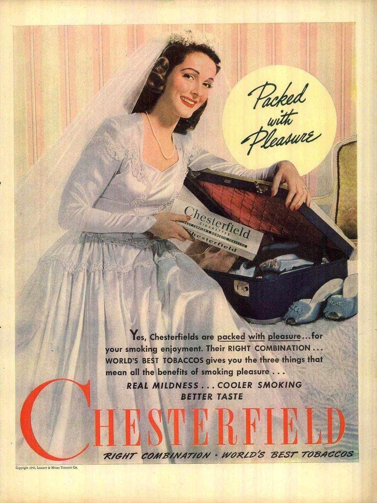Panna Młoda reklama papierosów