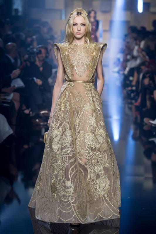 Złota suknia Elie Saab