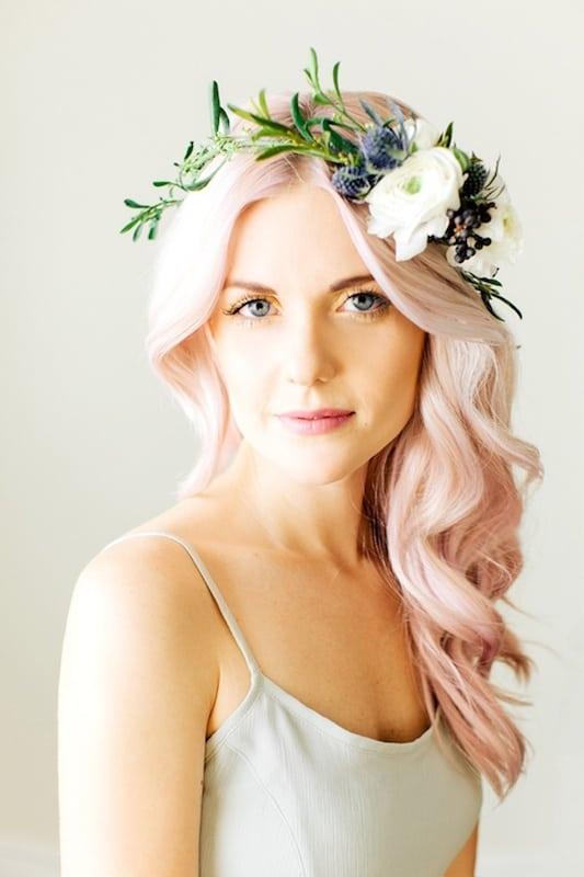 ślub różowe włosy