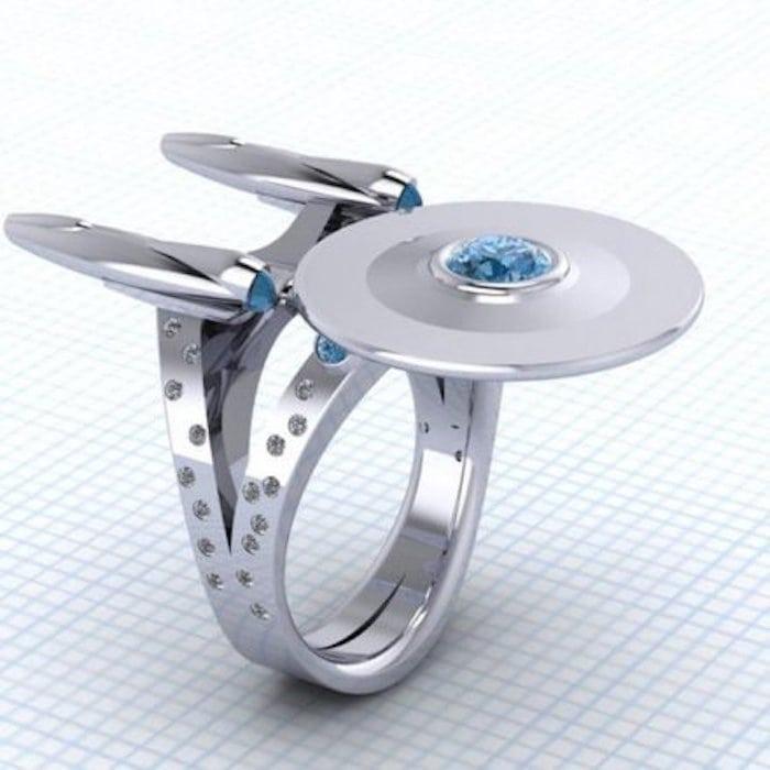 star trek pierścionek zaręczynowy