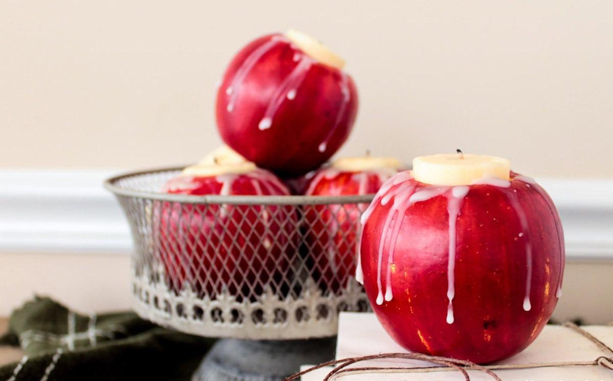 dekoracje jabłka ślub