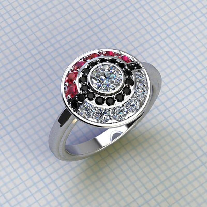 pierścionek zaręczynowy pokemon