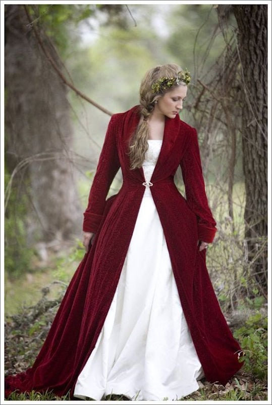 płaszcz na ślub