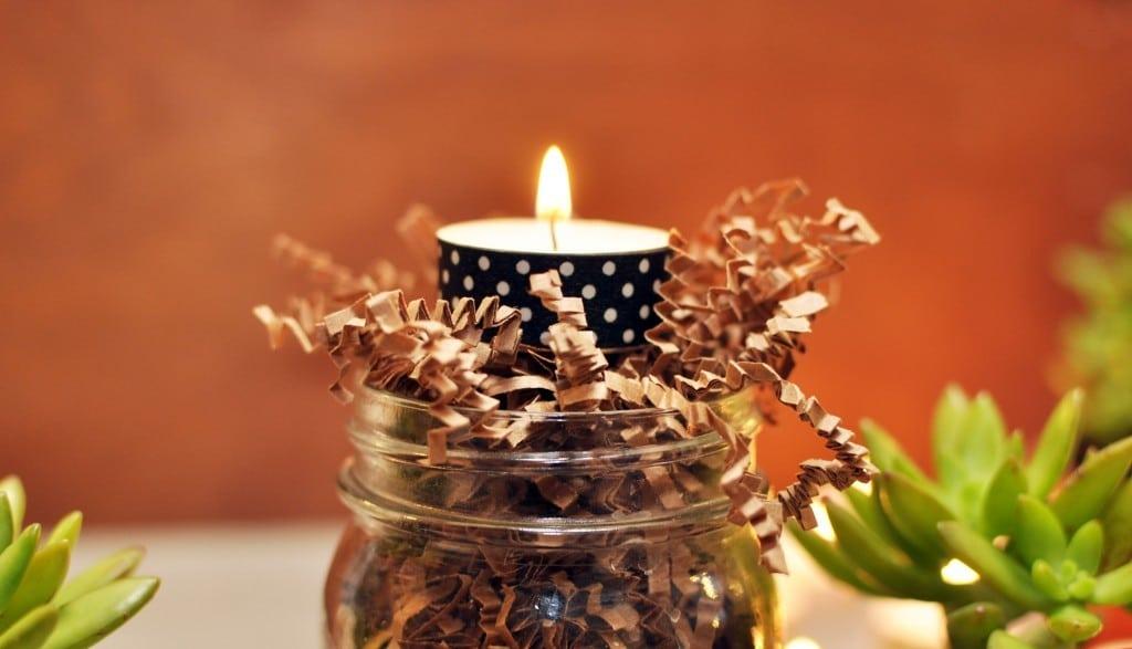 świeczki wesele DIY