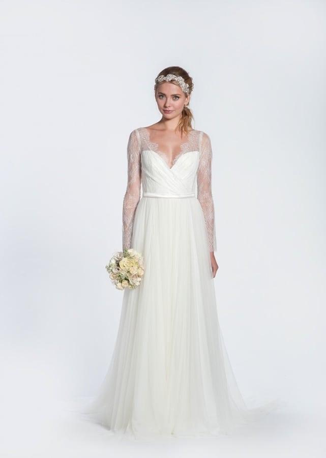 suknia ślubna długie rękawy