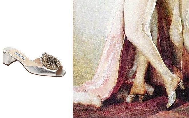retro buty na ślub