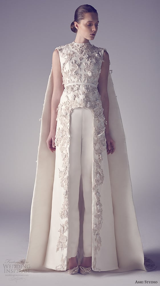 ashi-studio-couture-2015-jewel-neckline-sleeveless-floral-embroideries-inner-pants-sheath-dress-with-cape