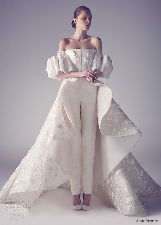ashi-studio-couture-2015-off-the-shoulder-straigh-across-neckline-flounce-overskirt-with-pants