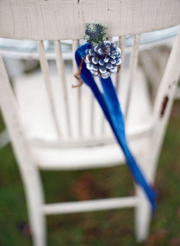 dekoracje weselne z szyszek